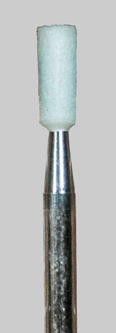 Cylinder White Stone 0.10 in Dia. 0.28 in Long 3/32 inch Shank