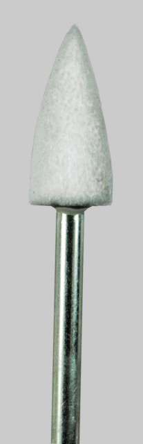Cone White Stone 0.27 in Dia. 0.59 in Long 3/32 inch Shank