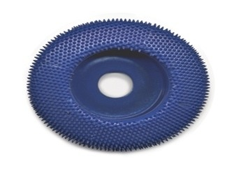 Typhoon Disc Flat Face Carving Wheel Fine Blue 2 Inch dia. w/3/8 Inch Arbor Hole - A-KB25627