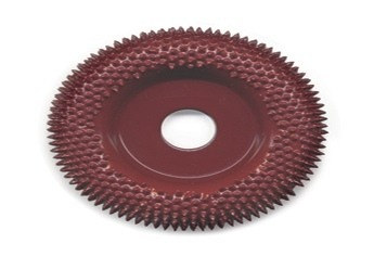 Typhoon Disc Round Face Carving Wheel Coarse Red 2 inch dia. w/3/8 inch Arbor Hole - A-KB25628