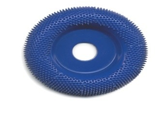 Typhoon Disc Round Face Carving Wheel Fine Blue 2 Inch dia. w/3/8 Inch Arbor Hole - A-KB25629