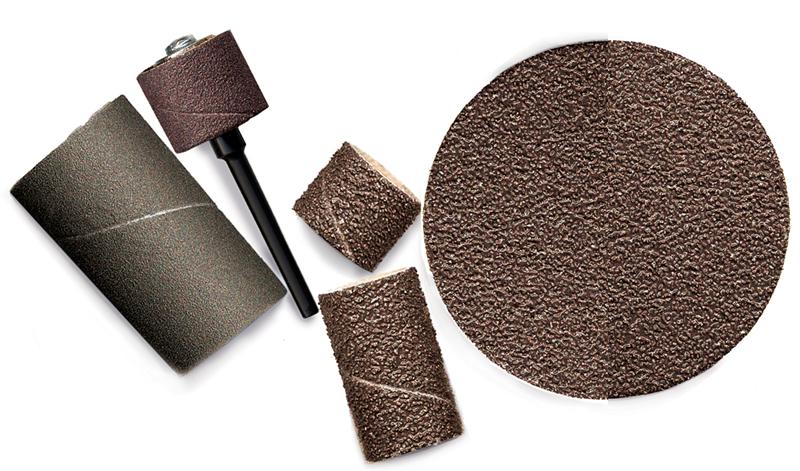 Aluminum Oxide Sanding Bands 3/8 Inch dia. x 1/2 Inch long 80 Grit Pack of 10 - A-4643-10