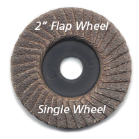 Flap Sander Disc 2 Inch dia. X 3/8 Inch Arbor Hole 600 grit 5 pack