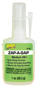 Adhesive Zap-A-Gap Medium CA+ 1 oz