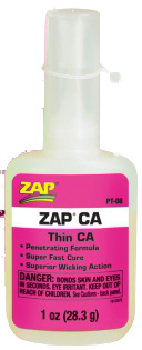 Adhesive Zap-A-Gap Super Thin CA 1 oz