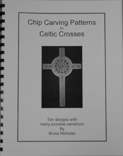 Chip carving patterns for celtic crosses
