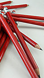 Pencil Big Red 50 Pack