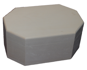 Box Octagon with Round Edge 8 3/4 x 6 x 4 inch