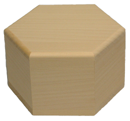 Box Hexagon Large 5 1/2 inch sides x 3 3/4 inch