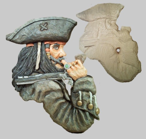Roughout pirate relief large