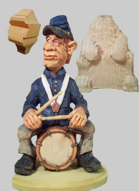 Complete Set Civil War Drummer Roughout