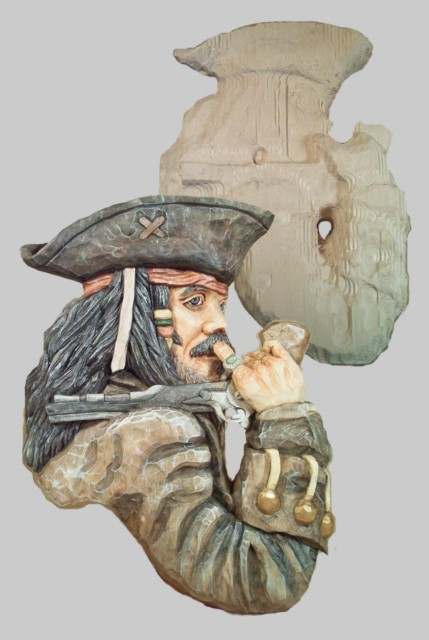 Roughout pirate relief small