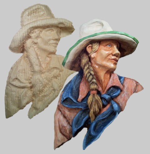 Roughout Relief Cowgirl