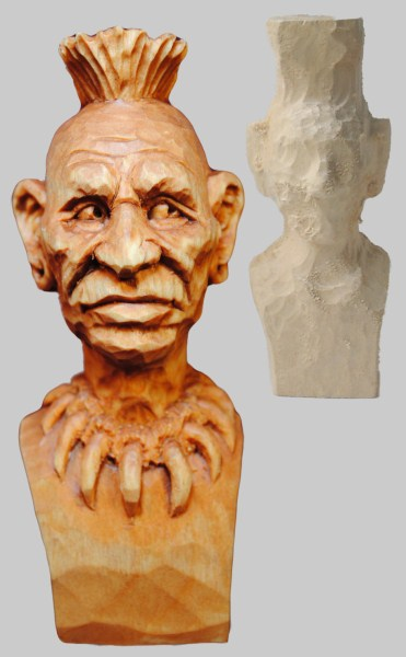 Roughout Native American Bust