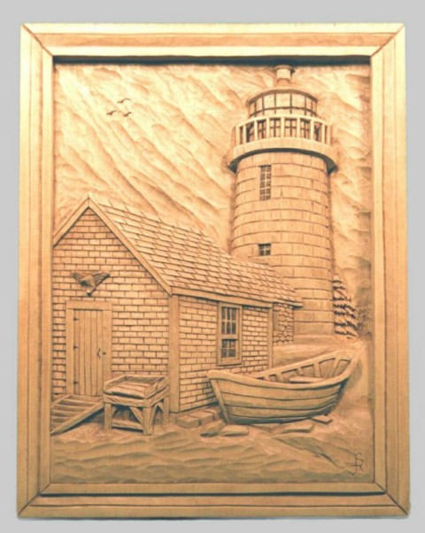 Pattern Relief Lighthouse 3 Monhegan