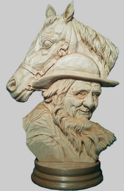 Pattern Relief Amish Man