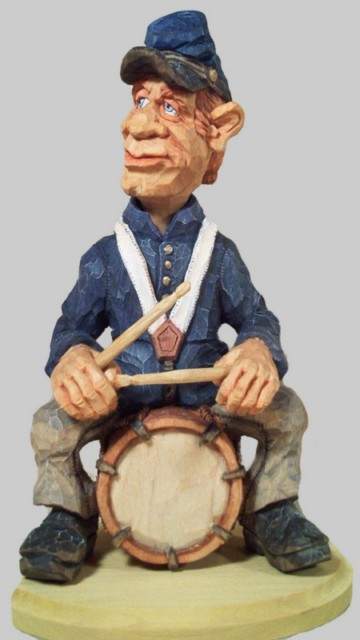 Pattern Caricature Civil War Drummer