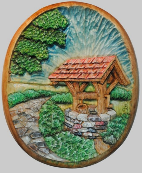 Pattern Relief Wishing Well 1
