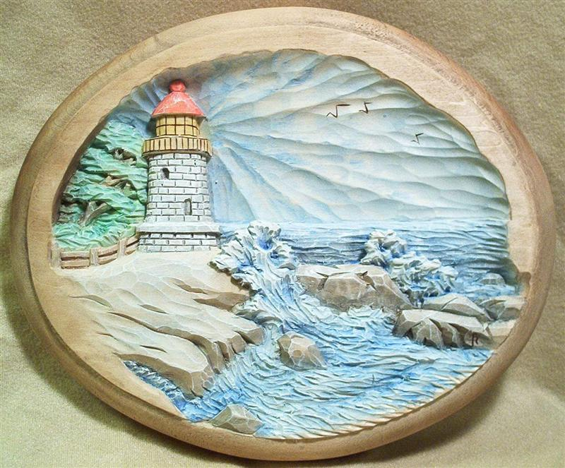 Pattern relief lighthouse