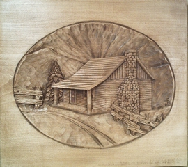 Pattern Relief Cabin 2