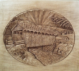 Pattern Relief Covered Bridge 3