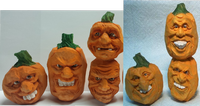Pattern Set Pumpkin Caricatures