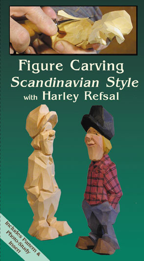 DVD-Figure Carving Scandinavian Style with Harley Refsal