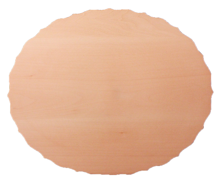 Scalloped Scooped Oval Plate