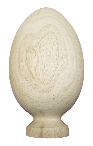 Turkey Egg on Narrow Stand Butternut