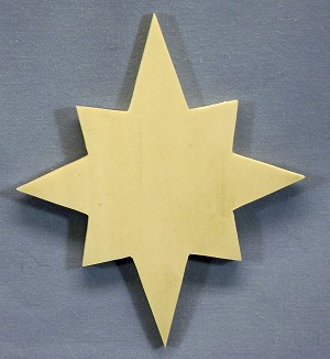 Star Tree Ornament, 5 pack