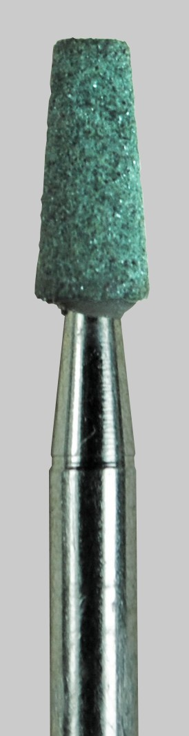 Taper Flat Top Green Stone 0.12 in Dia. 0.27 in Long 3/32 inch Shank