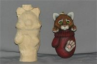 Roughout Kitten n Mitten Ornament