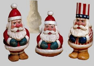 Roughout Santa Three in One
