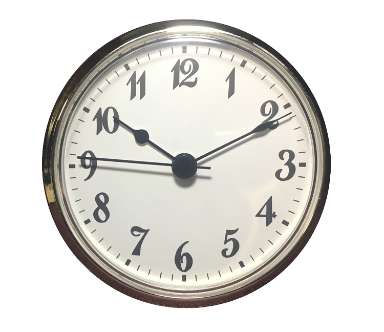 3 inch Diameter Clock, Contemporary Style