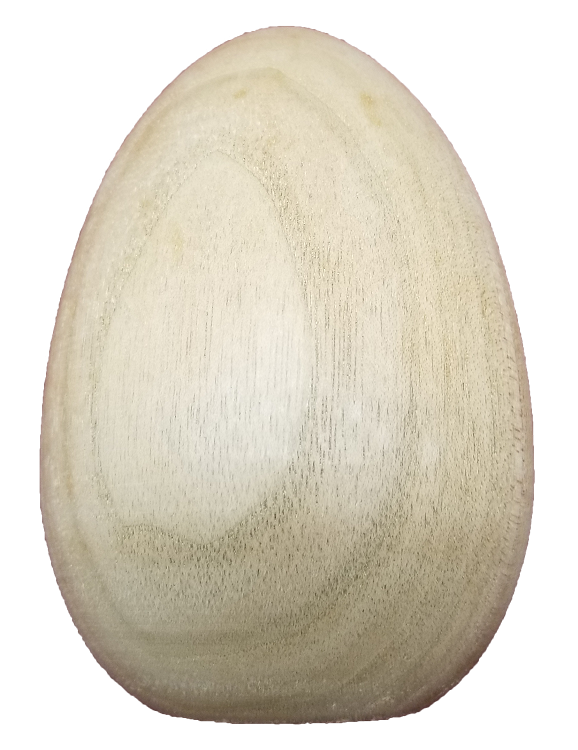 Turkey Egg 4 1/2 inch Butternut