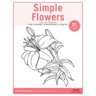 Simple Flowers Carving Patterns