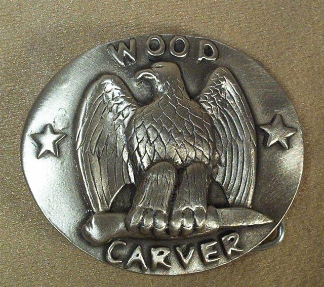 Woodcarver's Belt Buckle