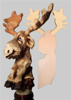 Blank Squatting Moose Bottlestopper