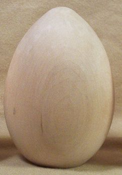 Ostrich Egg 5 inch Basswood