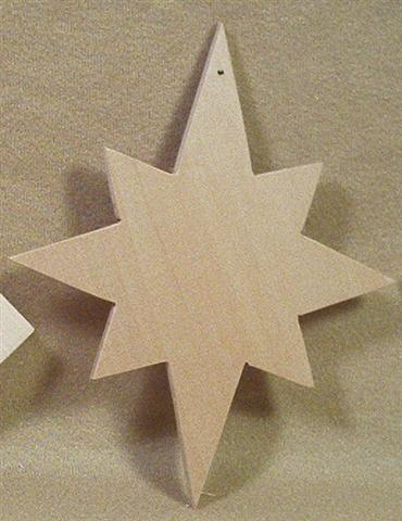Blank, Ornament 8 Pointed Star, thick