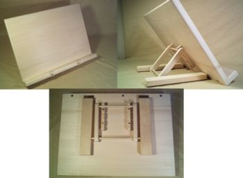 Bookstand, Unfinished, Basswood, 9 x 12 x 3/4 inch