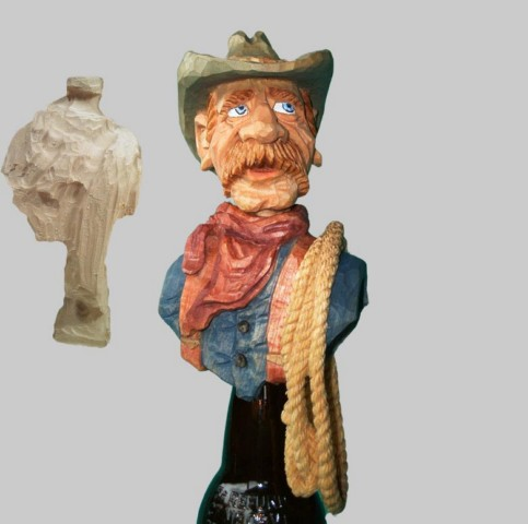 Roughout Torso Only Cowboy with Lasso
