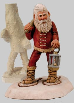 Roughout Early American Santa on Snowshoes
