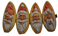Pattern Santa Heads for Quartered Turkey Egg