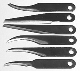 Detail Carving Blade 6SBL Warren 6 pc pkg