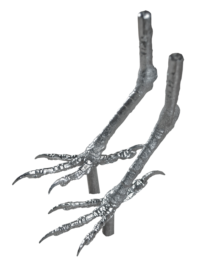 Pewter Bird Feet