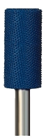 Smooth End Cylinder Typhoon, Fine (blue) Grit, 1/4 inch Shank