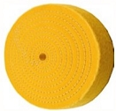 6 inch Buffing Wheel, Treated, Spiral Sewn, 50 ply