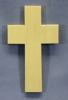 Plain Cross, Single, 3 x 5 x 1/4 inches