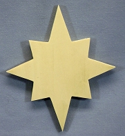 Star Tree Ornament, Single, thin